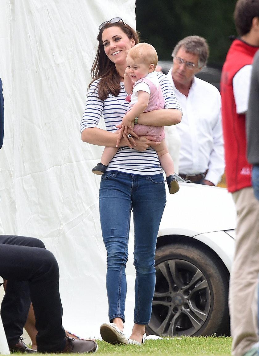 Kate Middleton z synkiem