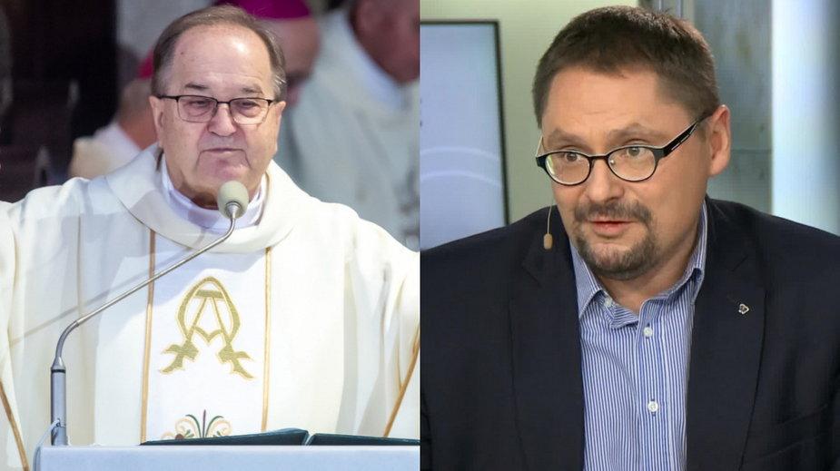 Tadeusz Rydzyk (PAP, fot. Tytus Żmijewski) i Tomasz Terlikowski (wideo własne)