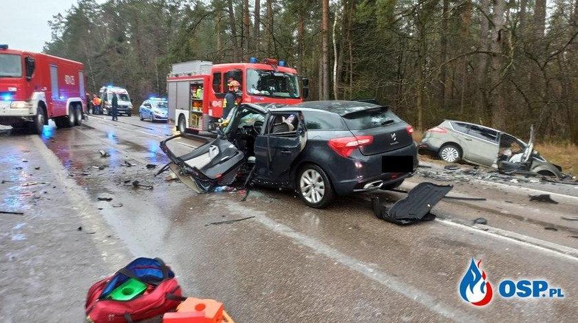 Koszmarny wypadek na Podlasiu. 5 osób rannych, w tym dwoje dzieci