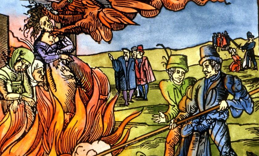 Czarownice najczęściej palono na stosie albo wieszano.