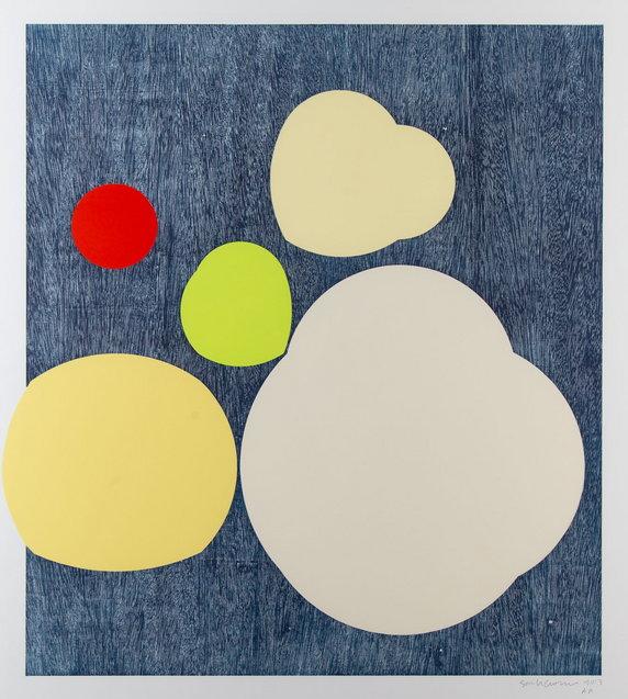 """Wystawa i aukcja """"Grafika artystyczna. Sztuka Współczesna"""". Sarah Crowner, """"Bez tytułu (Spotlights)"""" (2013)"""
