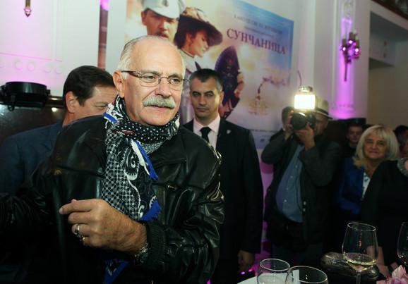 Nikita Mihalkov na prijemu posle premijere filma