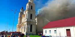 Pożar w głównej katolickiej świątyni na Białorusi. Ogień zauważyli parafianie