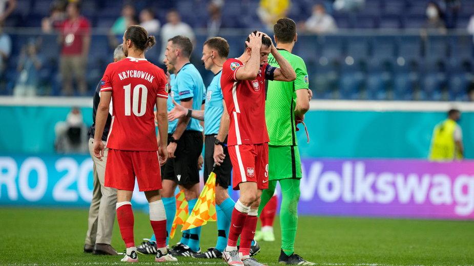 Reprezentacja Polski po meczu ze Szwecją