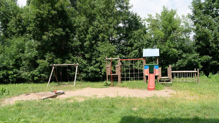 Plac zabaw dla podopiecznych ośrodka