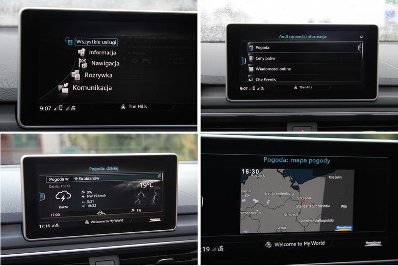 Audi A4 2016 Connect pogoda