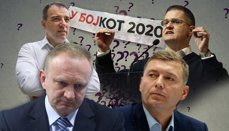 bojkot kombo v3 RAS Oliver Bunic, Petar Dimitrijavic, Milan Ilic, Mitar Mitrovic, Shutterstock