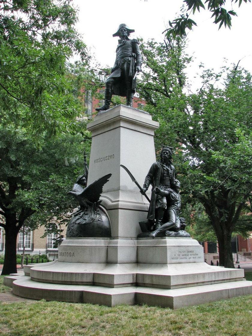 Wandale sprofanowali w Waszyngtonie pomnik Tadeusza Kościuszki