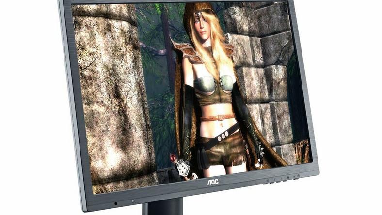 Monitor AOC to matryca TN o częstotliwości odświeżania 144hZ. Wyposażony jest w złacza DP, HDMI i DVI. Ma też dwa porty USB i kiepskie głośniczki o mocy 2x2W