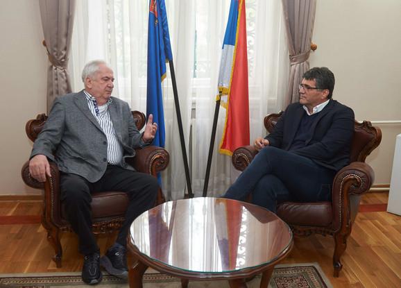 Prvi čovek OKS Božidar Maljković i Darko Bulajić, gradonačelnik Niša