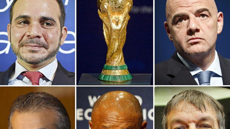 Ali Bin Al Hussein, Gianni Infantino, Sheikh Salman bin Ebrahim Al Khalifa, Tokyo Sexwale i Jerome Champagne