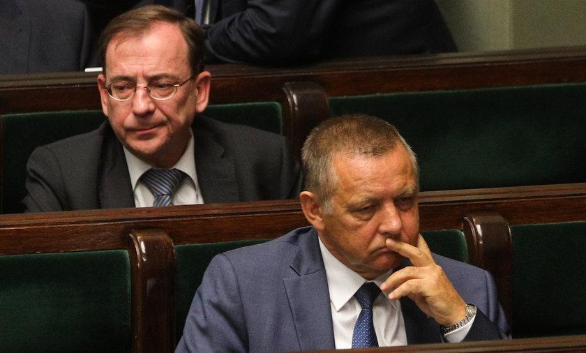 Marian Banaś i Mariusz Kamiński w czasach, gdy jeszcze razem zasiadali w rządzie PiS