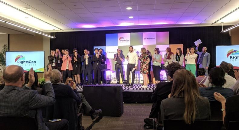 Participants at the 2018 RightsCon - (Twitter/Brett Solomon)