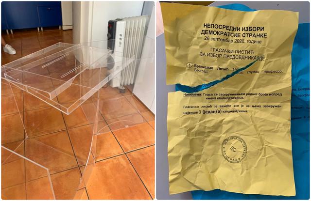 Polomljenje glasačke kutije i iscepani listići