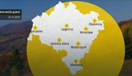 Prognoza pogody dla woj. dolnośląskiego - 21.11