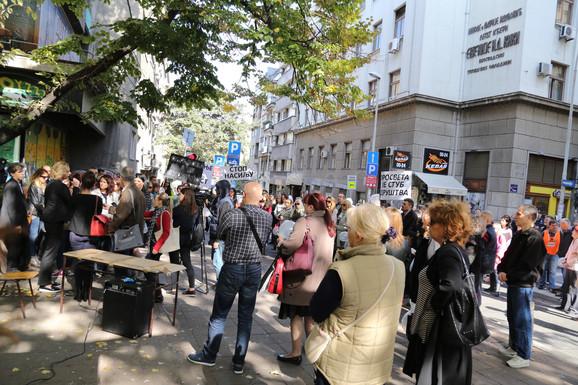 Zbog protesta blokirane i ulice