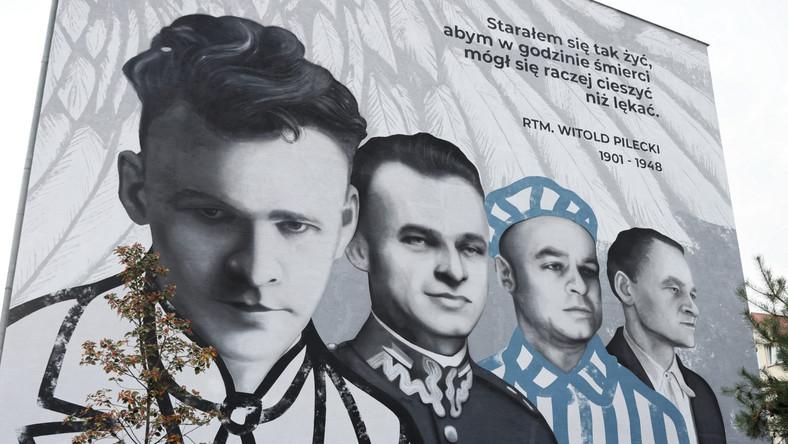 Mural Witolda Pileckiego na Ursynowie