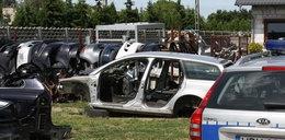 Tyle zostało ze skradzionych aut