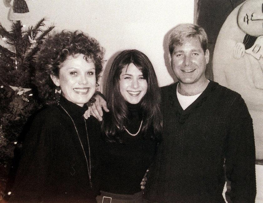 Jennifer Aniston z matką i bratem