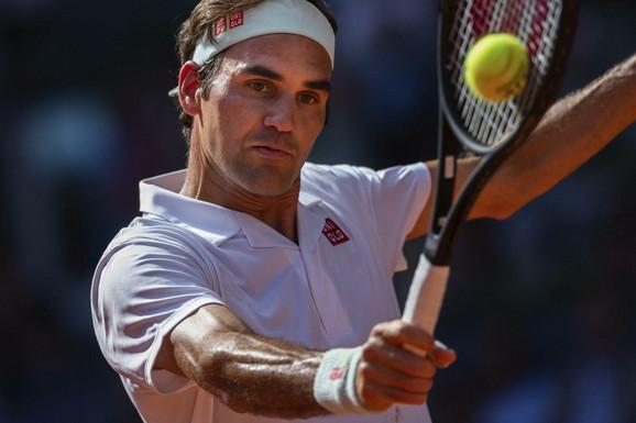 Rodžer Federer na meču sa Dominikom Timom