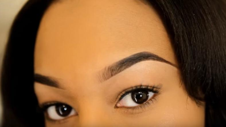 Well defined/tamed brows light up the eyes