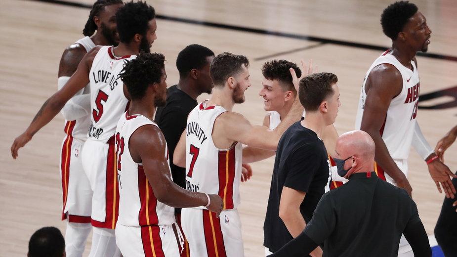 Radość koszykarzy Miami Heat