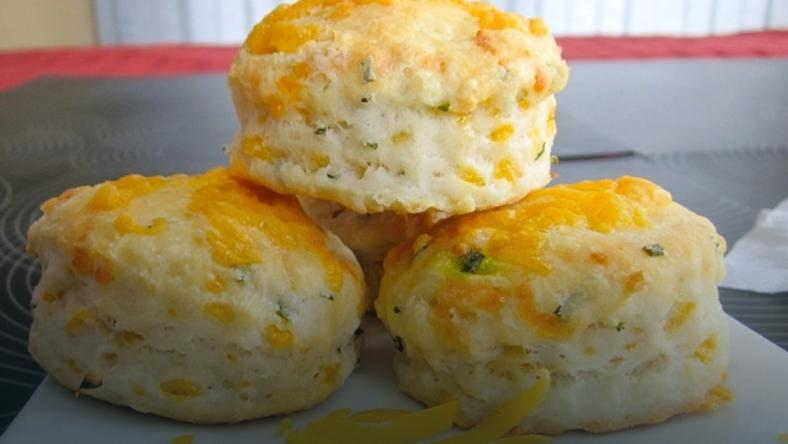 Cheese and chives scones (credit - My Favourite Pastime)