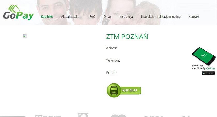 Dzięki aplikacji GoPay można kupić bilety ZTM Poznań