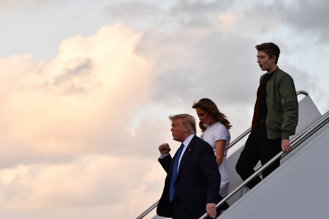 Melanija, Donald i Baron Tramp