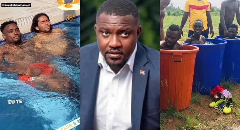 'We won the league with barrels' – Dumelo claps back at Kotoko fan who tried to troll Hearts