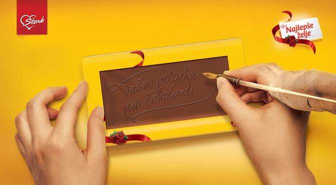 Vaša poruka na čokoladi Najlepše želje
