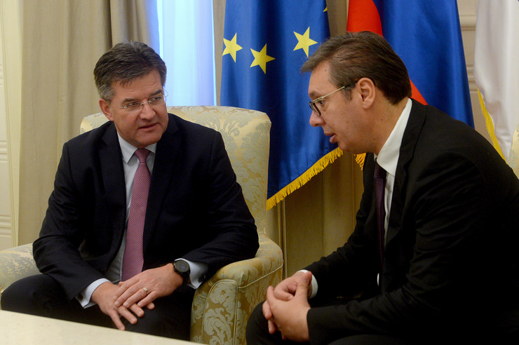 Aleksandar Vučić, Miroslav Lajčak