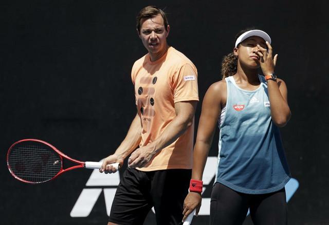 Saša Bajin i Naomi Osaka