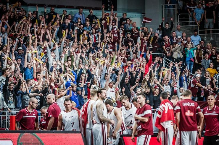Košarkaška reprezentacija Letonije, Košarkaška reprezentacija Slovenije