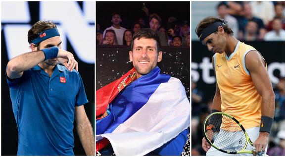 Velika trojka: Rodžer Federer, Rafael Nadal, Novak Đoković