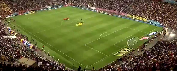 Detalj sa utakmice Rumunija - Španija
