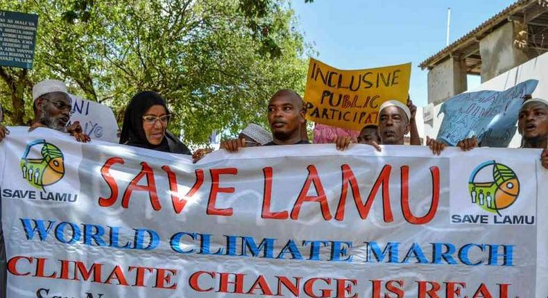 Residents protest over coal in Lamu
