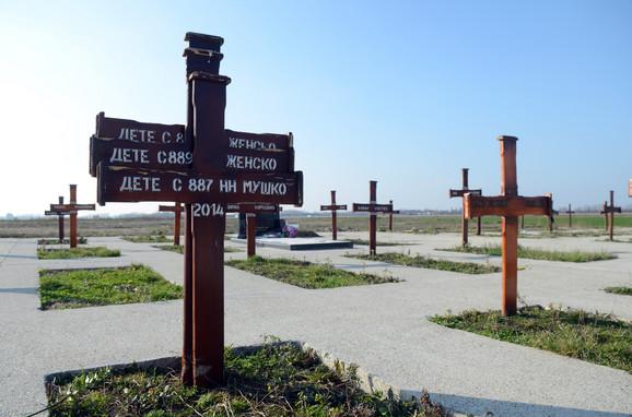 Tužna slika na groblju