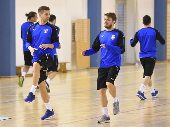 Matija Nastasić i Adem Ljajić na treningu