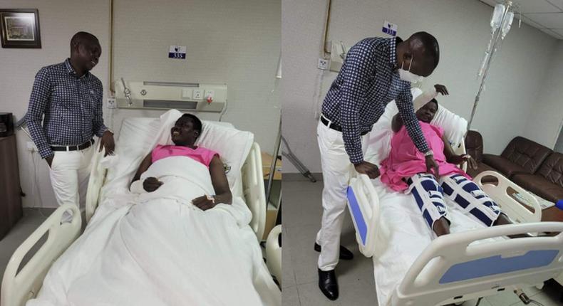 MP Oscar Sudi visits Ainabkoi Member of Parliament William Chepkut is Hospital