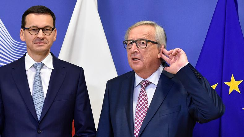 Mateusz Morawiecki i Jean Claude Juncker