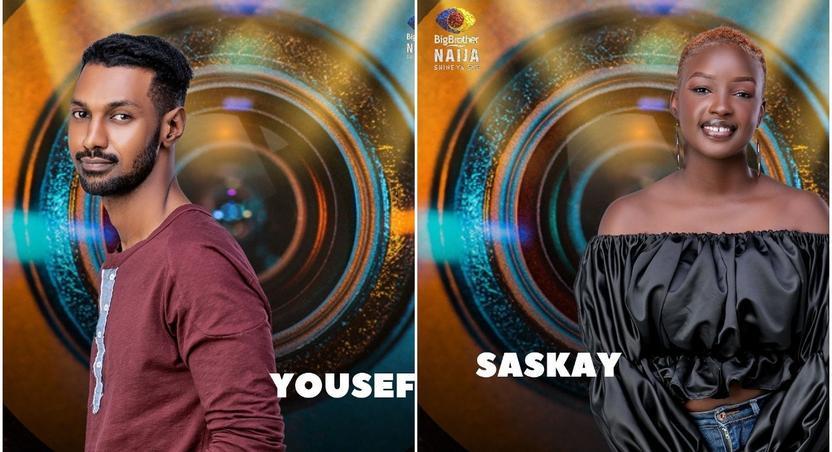 The two evicted housemates Yousef and Saskay [Instagram/BigBroNaija]