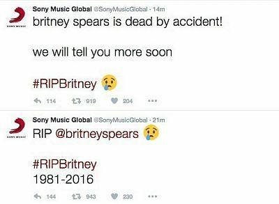 Britney Spears nie żyje