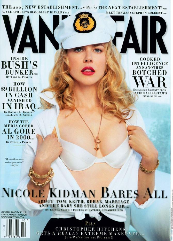 "Nikol Kidman na naslovnoj strani ""Veniti fera"" 2007. godine"