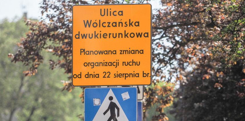 Uważaj! Wólczańska i 6 Sierpnia w Łodzi są dwukierunkowe