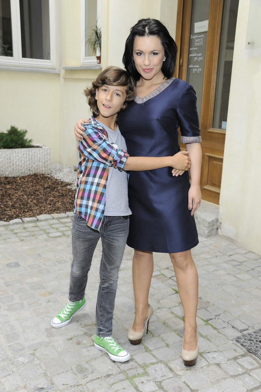 Beata Tadla z synem