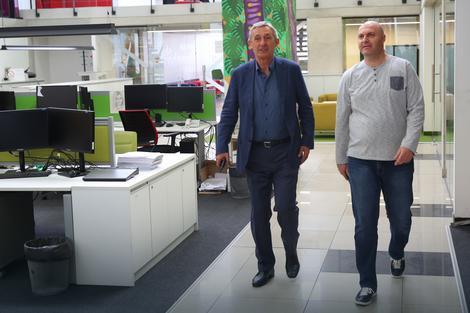 Pešić sa našim urednikom Igorom Velimirovićem