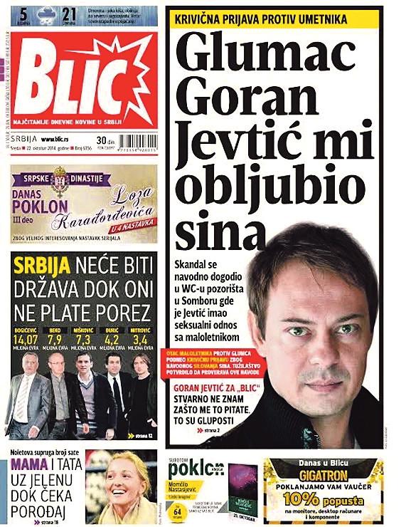 Prva informacija o obljubi koju je učinio Jevtić nad maloletnikom objavljena je u