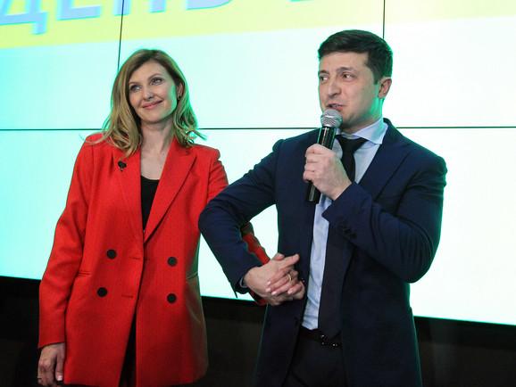 Olena i Volodimir Zelenski