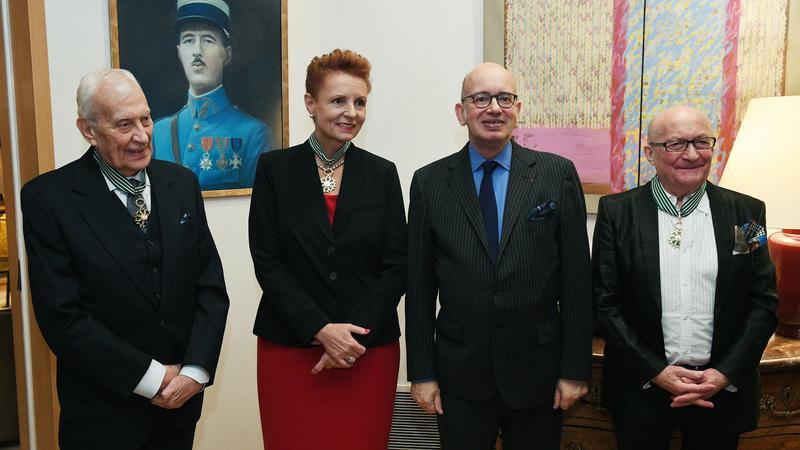 Piotr Skubiszewski, Małgorzata Omilanowska i Wojciech Pszoniak